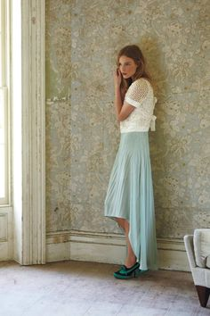 Skirt color - light and feminine (but definitely spring clothes)