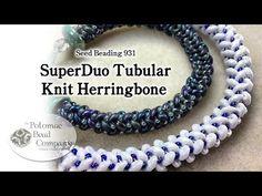 Pulsera Tubular con Superduo (Espiral) - YouTube