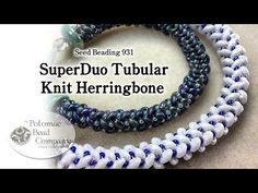 Video: SuperDuo Tubular Knit Herringbone - #Seed #Bead #Tutorials