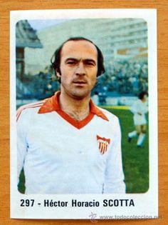 Sevilla - 297 Scotta - Cromo Crom/Panini 1980-1981, 80-81- Nunca pegado