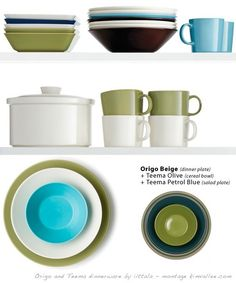 A Lesson in Tableware Arrangements with modern Finnish Dinnerware - At Home with Kim Vallee Salad Plates, Ceramic Bowls, Dinner Plates, Dinnerware, Ceramics, Tableware, Modern, Fun Things, Kitchen