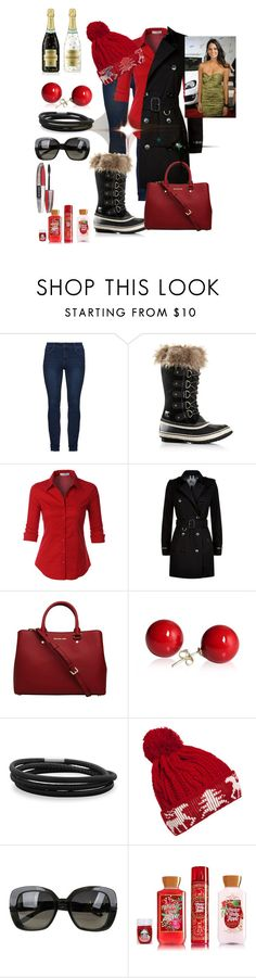 """""""Untitled #2244"""" by princhelle-mack ❤ liked on Polyvore featuring Rebecca Minkoff, SOREL, LE3NO, Burberry, MICHAEL Michael Kors, BillyTheTree, WithChic, Bottega Veneta and L'Oréal Paris"""