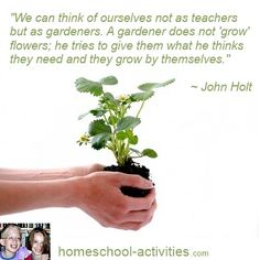 Inspirational #John #Holt quotes from one of the very few second generation #homeschooling families taught at home myself. www.homeschool-activities.com/john-holt-quotes.html