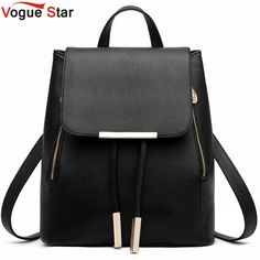 $34.82 (Buy here: https://alitems.com/g/1e8d114494ebda23ff8b16525dc3e8/?i=5&ulp=https%3A%2F%2Fwww.aliexpress.com%2Fitem%2Ffashion-women-backpack-good-quality-school-backpacks-for-teenage-girls-women-leather-backpack-school-bags-mochila%2F32603762905.html ) Vogue Star Fashion women backpack  school backpacks for teenage girls women leather backpack school bags mochila LS135 for just $34.82