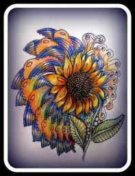 Image result for zentangle sunflower