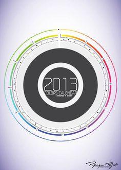 2013 Color Calendar – Beautiful free calendar to print