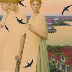 """""""Heavenly bodies"""", 2008                                Andrey Remnev,  Oil on canvas."""