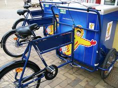 The Copenhagen Zoo just recieved a shipment of new ice cream bikes that will pedal around the gardens this summer.