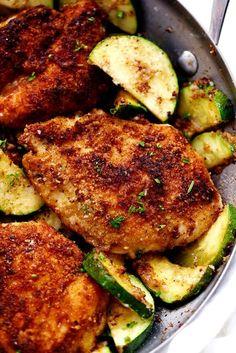 Crispy Parmesan Garlic Chicken with Zucchini   The Recipe Critic