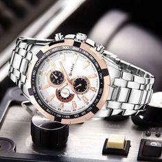 514350f68c5 Original Curren New Brand Men Watches Casual   Sport Life Water Resistant Watches  Men s Business Quartz Steel Strap Wristwatches. Paulo Roberto · Relógios ...