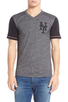 New York Mets Onyx Trim Fit V-Neck Tee