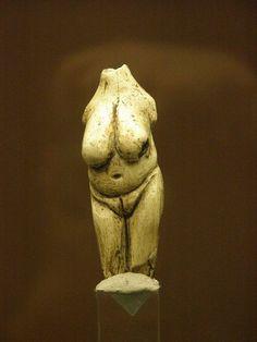 Female figurine, the Venus of Moravany, found at Moravany nad Váhom, Western Slovakia Upper Paleolithic, mammoth ivory 22,800 BC