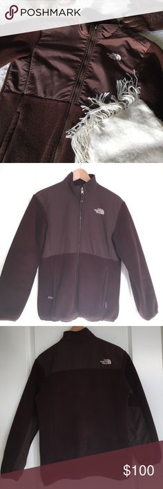 Authentic North Face Brown Denali Jacket Brown North Face Denali jacket. It's been worn but in good condition. Authentic North Face! It's a girls XL so it fits like a women's small or medium. ‼️ This comes from a house with dogs 🐶 so there may be some dog hair on it if you purchase.   🛍 Bundle & Save: 20% off 2+ items!  🙅🏻 No trades / selling off Posh.  ✔️ Reasonable offers always welcome. North Face Jackets & Coats