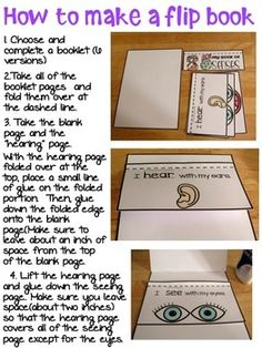 five senses flip book