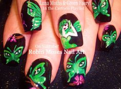 Nail Art | Green Butterfly Nails! Cute Fairy Nail Design Tutorial