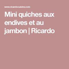 Mini quiches aux endives et au jambon | Ricardo