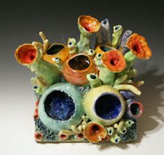 Ceramic Reef Hangings by artist Diane Martin Lublinski.  Follow my work at www.Facebook.com/ClayForms Summer Art Projects, Clay Projects, Diy Craft Projects, Paper Mache Clay, Clay Art, Pottery Sculpture, Pottery Art, Bio Art, Underwater Art