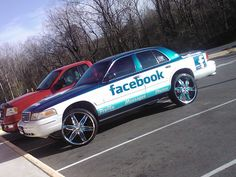 Work at Facebook and drive a Facebook car??