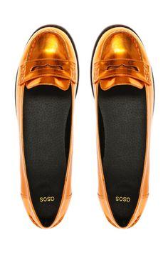 ASOS Metallic Loafer Shoes