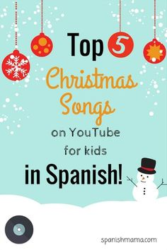 Our favorite Christmas songs in Spanish! Looking for Canciones de Navidad to sing with your kids? Here are our favorites, with links to YouTube, for practicing at home or in your Spanish classroom. Includes both religious and non-religious songs.