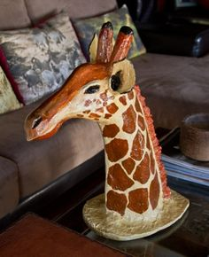 "paper mache giraffe head ""decorate home with nature"" Kids Fun, Cool Kids, Giraffe Head, Paper Mache, My Children, How To Memorize Things, Crafty, Play, Nature"