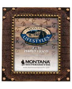 Montana Silversmiths Leather Texture Frame 8X10 - www.fortwestern.com