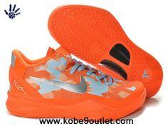 2014 Orange Metallic Silver Nike Zoom Kobe 8 Store