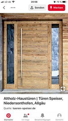 Love, front door idea Old wood front doors Modern Entrance Door, House Entrance, Entrance Doors, House Front Door, House Doors, Exterior Design, Interior And Exterior, Sas Entree, Chalet Interior