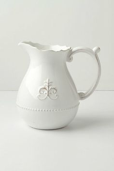 Fleur de Lis pitcher - for water, or flowers, or whatever...