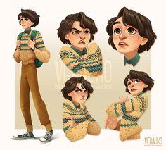 Mike Wheeler - Character Study by verauko