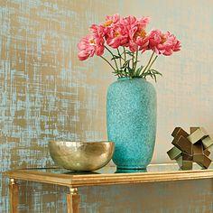 Turquoise vase/Anna French