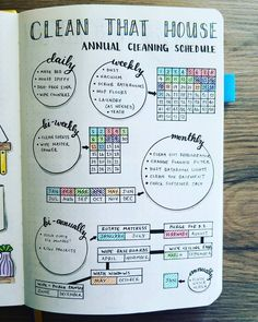 NEW Bullet Journal Setup - Cleaning Schedule I've been a cleaning like a crazy person, and it sure shows on my Cleaning Schedule. I love this thing. I would clean anyway, but this let's me know it's getting done! And I get to pat myself on the back.
