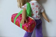 Obsessively Stitching: Dollar Dolly Duffel Bag! -- TUTORIAL