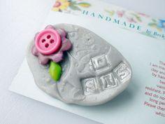 'Sis' Flower Steampunk Brooch Badge £4.50