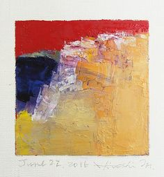 "June 22, 2016 9 cm x 9 cm (app. 4"" x 4"") oil on canvas © 2016 Hiroshi Matsumoto"