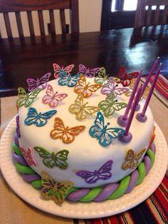 Torta de mariposas de Guadi