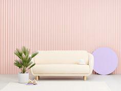 Joanna Laajiston suunnittelema Bobo Buklee -sohva. Sofa Design, Furniture Design, Interior Design Institute, Workplace Design, Lounge Sofa, Velvet Sofa, 2 Seater Sofa, Boutique Design, Scandinavian Design