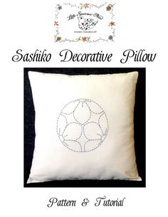 Sashiko Decorative Accent Pillow Pattern & Tutorial