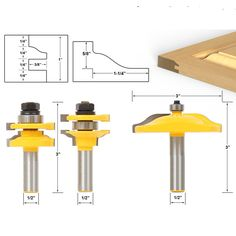 Raised Panel Cabinet Door Router Bit Set with 3 Bit Ogee 1/2-Inch Shank Cutter Router Bit Set Door Woodworking Carpentry Kit #Affiliate
