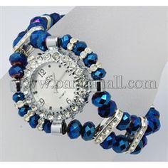Watch Bracelets BJEW-Q019-4 Watch Bracelets, Fashion Bracelets, Beaded Watches, Jewelry Watches, Jewelry Making Beads, Bracelet Making, Diy Jewelry Photography, Jad, Beaded Necklace Patterns