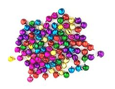 Coolrunner 12mm Different Color Assorted Fashion Jingle Bell/ Small Bell/ Mini Bell for DIY Bracelet Anklets Necklace Knitting/ Jewelry Making Accessories (50pcs)