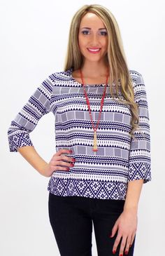 A Touch Of Aztec Blouse