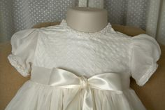 Baptism/Christening/Naming+Gown+and+Bonnet+Set+by+monbebes+on+Etsy,+$305.00