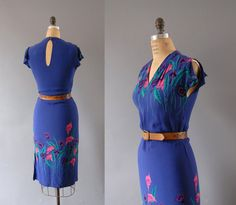 1970s Dress / Lily Flutter Dress  / 70s by wildfellhallvintage