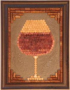 very cool This would look amazing in my Wine Bar! Wine Craft, Wine Cork Crafts, Wine Bottle Crafts, Wine Cork Projects, Craft Projects, Cute Crafts, Diy And Crafts, Diy Cork, Cuadros Diy