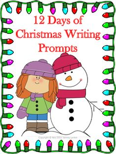 Christmas is almost here. I have created 12 days of Christmas writing prompts worksheets. Print in color or black and white. There are 12 writing prompts in this PDF. Thank you for your purchase. Merry Christmas.Christmas | Writing Prompt | Writing Prompts | Worksheets | Worksheet | Writing | Holiday | Snowman | Winter | Reindeer | Santa | Elf | Prompt | Elf | Christmas Tree All rights reserved.Copyright  2014 Tammy Griffin