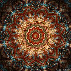 """The Third"" - mandala by Marcelo Dalla, via ManDalla Arte Visual Mandala Art, Mandala Pattern, Mandala Design, Arte Yin Yang, Magic Design, New Media Art, Circle Art, Yoga Art, Celtic Art"