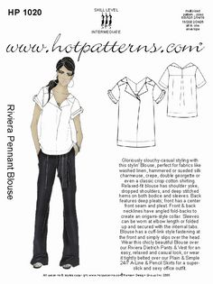 HotPatterns.com - HP 1020 Riviera Pennant Blouse, $7.95 (http://www.hotpatterns.com/hp-1020-riviera-pennant-blouse/)