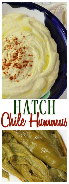 This hatch chile hummus takes traditional hummus up a notch with the flavor of t. This hatch chile hummus takes traditional hummus up a notch with the flavor of these roasted hatch chiles. Hatch Recipe, Hatch Green Chili Recipe, Green Chili Recipes, Hatch Chili, Mexican Food Recipes, Vegetarian Recipes, Chili Chili, Chili Mac, Spicy Chili