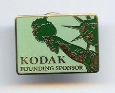 1986 Statue Of Liberty Centennial Celebration KODAK FOUNDING SPONSOR Enamel Pin